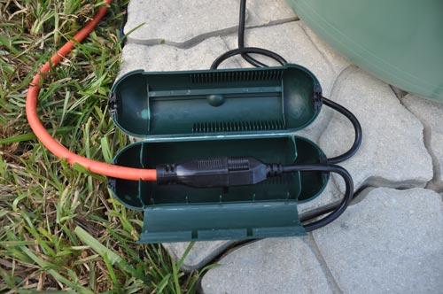 Protezione cavo elettrico giardino safe box h52 ip44 - Prese elettriche da esterno ...