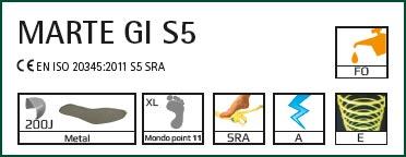 STIVALI DI GOMMA MARTE S5 GIASCO GIALLI
