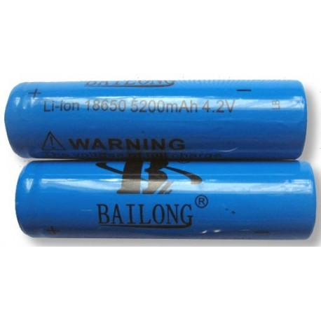BATTERIA 18650 BAILONG 5200mAh 3,7V litio-ion