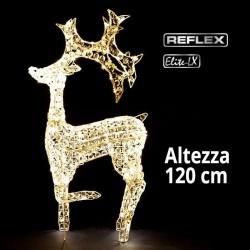 Renna Led 3D luce bianca classic 120cm altezza