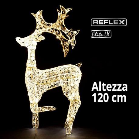 Renna Led 3D luce bianca classic altezza 120cm