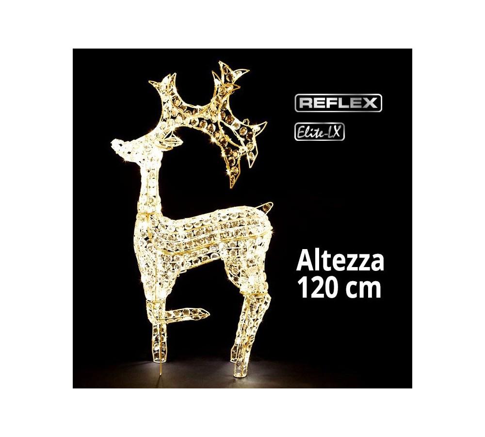 Renna led 3d luce bianca classic 120cm altezza for Led luce bianca