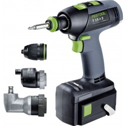Trapano Avvitatore Batteria Litio 5,2 Ah T 15+3 Set Festool