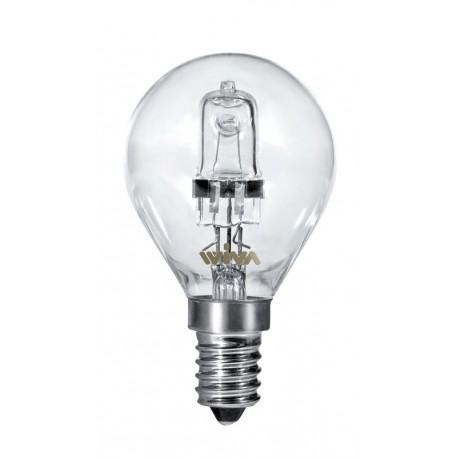 LAMPADA ALOGENA SFERA E14 28W LUCE CALDA