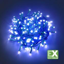 CATENA LUMINOSA 180 MINILUCCIOLE LED CON CONTROLLER 24V - LUCE BLU