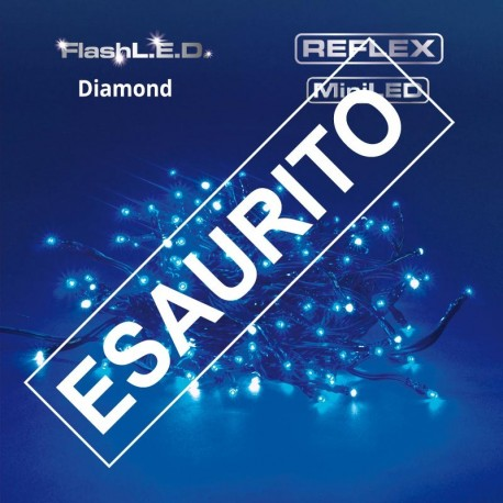 CATENA DI NATALE 180 MINILED REFLEX FLASHLED PROLUNGABILE 24V - BLU DIAMOND