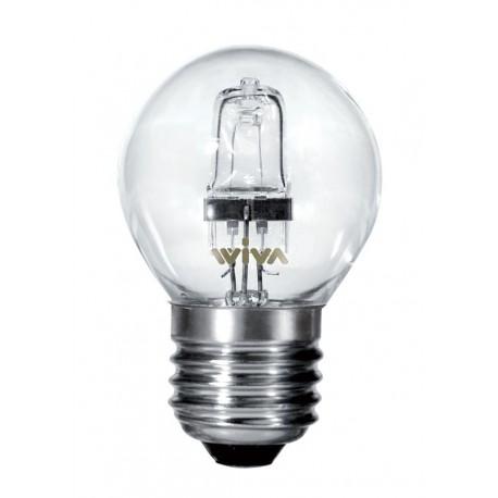 LAMPADA ALOGENA SFERA E27 42W LUCE CALDA