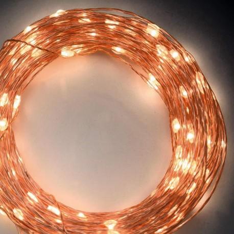 Lotti Catena di luci 300 microled - 22,5 m. bianco classic - memory controller - metal copper