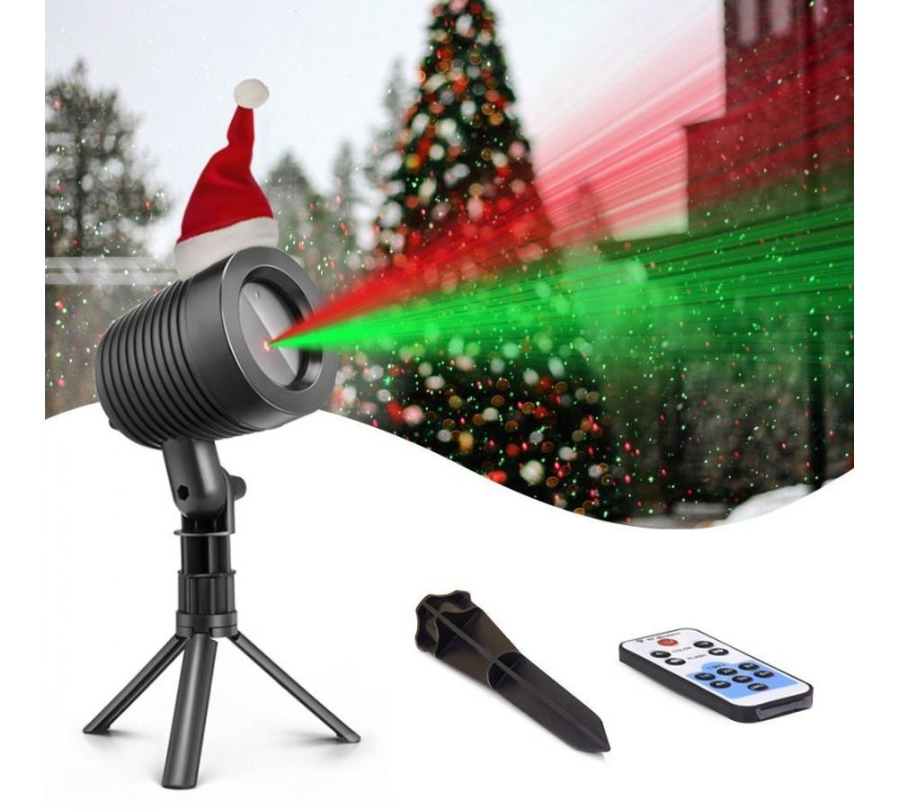 Proiettore Luci Laser Natale.Faro Proiettore Laser Luci Di Natale A 2 Colori Con Funzione