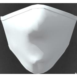 Mascherina adulto in tessuto tecnico idrorepellente lavabile 40 lavaggi colore bianco