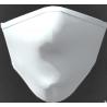 Mascherina lavabile adulto in tessuto tecnico colore bianco