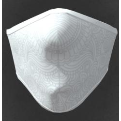 Mascherina lavabile adulto in tessuto tecnico colore bianco lavorato