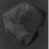 Mascherina lavabile adulto in tessuto tecnico colore grigio antracite