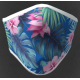 Mascherina lavabile adulto in tessuto tecnico con grafica giardino fiorito