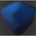 Mascherina adulto in tessuto tecnico idrorepellente lavabile 40 lavaggi colore blu oltremare