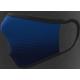 Mascherina lavabile adulto in tessuto tecnico colore blu oltremare