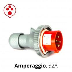 SPINA CEE ROSSA 32A 3P+T 6h 380-415V IP67