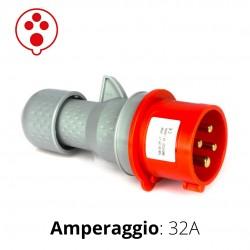 SPINA CEE ROSSA 32A 3P+T 6h 380-415V IP44