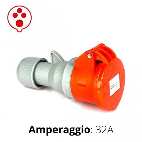 PRESA CEE ROSSA 32A 3P+T 6h 380-415V IP44