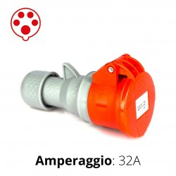 PRESA CEE ROSSA 32A 3P+N+T 6h 380-415V IP44