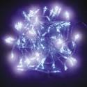 CATENA LUMINOSA 96 LED FIOCCHI/STELLE CON MEMORY CONTROLLER - LUCE BIANCO FREDDO
