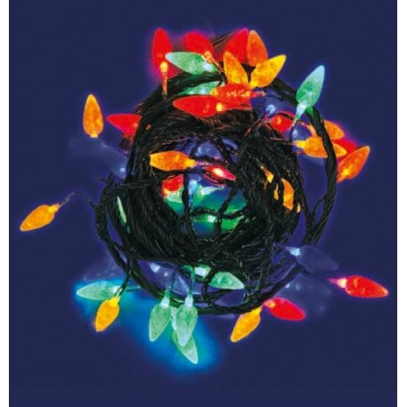 CATENA LUMINOSA 60 LED FANTASIA FRAGOLE CON MEMORY CONTROLLER 24V - LUCE MULTICOLOR