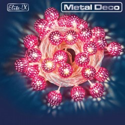 CATENA 30 LED ELITE-LX METAL DECO ROSA LUCE BIANCO CALDO